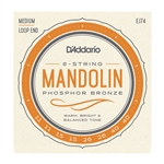 D'Addario J74 Mandolin Strings, Phosphor Bronze, Medium, 11-40