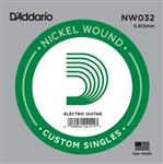 D'Addario  Single XL Nickel Wound 032