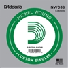 D'Addario  Single XL Nickel Wound 038
