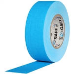Pro Tapes 2 Inch x 50 Yards Pro Gaffer Tape - Fluorescent Blue