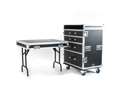 Large Workbox, 4 Drawer Front Table Lid with Guitar Workstation