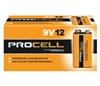 Duracell Procell 9 Volt Batteries - PC1604 - Sold in Boxes of 12