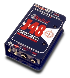 Radial Engineering R800 3001 J48 Phantom Powered Active Direct Box