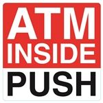5x5 ATM Inside Double Sided Push/Pull Door Decal