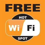 5x5 Free WiFi Double Sided Window Decal