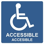 Window Decal 6x6 Handicap Accessible Double Sided