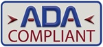"ADA compliant decal 2.25"" x 1"""