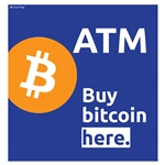 "Buy Bitcoin Here Hyosung 11"" x 11.5"" Topper Insert"