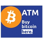 "Buy Bitcoin Here Triton High Topper Insert 13"" x 10"""