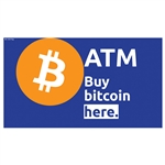"Buy Bitcoin Here Triton Mid Topper Insert 13"" x 7"""