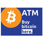 "Buy Bitcoin Here Genmega Mini High Bright 15"" x 10"" Topper Insert"