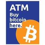 "Buy Bitcoin Here Hyosung High Bright Topper Insert 15"" x 19"""