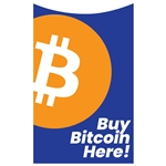 Buy Bitcoin Here Genmega 2500 Front Panel Decal