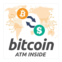 6 x 6 in Bitcoin ATM Inside Decal