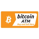 7.9 x 3.5 in Bitcoin Exchange Here Decal