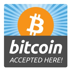Bitcoin Accepted Here 4x4 Decal