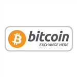 4 x 1.5 in Bitcoin Exchange Here Decal