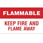 "Flammable - Keep Fire And Flame Away Decal 30"" X 18"""