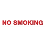 "No Smoking Decal 36"" x 6"""