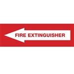 "Fire Extinguisher Pointing Left Decal 7"" X 2"""