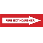 "Fire Extinguisher Pointing Right Decal 7"" X 2"""