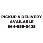 "Curbside Pickup & Delivery Available Decal 7""x2.75"""