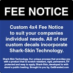 GetBranded.com-Custom 4x4 ATM Fee Notice Decal