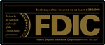 FDIC 7x3 Black-Gold Decal-GetBranded