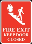 2x3EME-Fire Exit Keep Door Closed