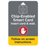 Chip Enabled Smart Card Decal 2 x 3 in