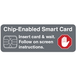 Chip Enabled Smart Card Decal 4 x 1.5 in