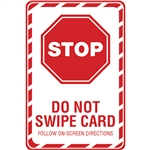EMVW-2x3 - Stop: Don't Jerk Card - White