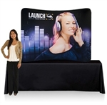 EZ Tube Display 8ft Curved Table Top Double Sided (Frame & Graphic)