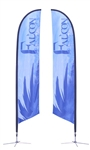 13ft Falcon Banner Stand Double Sided Graphic (Stand & Graphic)