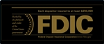 FDIC 12x5 Black-Gold Decal-GetBranded