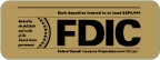 FDIC 3 x 1.5 inch Gold and Black Label-GetBranded