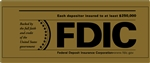 FDIC 12 x 5 inch Gold Decal-GetBranded