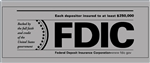 FDIC 12 x 5 inch Gray Decal-GetBranded