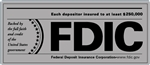 FDIC 7 x 3 inch Gray Decal-GetBranded