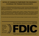 Changes in Temporary FDIC Coverage 7x6.5 Gold-GetBranded