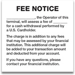 "GetBranded.com-4"" x 4"" Fee Notice, Fill-In Black and White"
