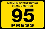 95 Press Octane Rating Decal