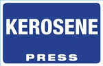 Kerosene Press Octane Rating Decal - Blue