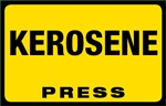 Kerosene Press Octane Rating Decal - Yellow