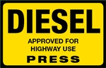 Diesel Press Octane Rating Decal - Yellow