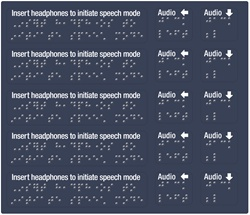 GetBranded.com-5 Pack of Braille Audio Decals (Left and Down)
