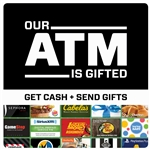Gift Card ATM Inside Double Sided Decal 5 x 5 in
