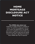 GetBranded.com-Home Mortgage Disclosure Act Notice - 11x14 inches