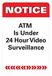 "GetBranded.com-2"" X 3"" 24 Hour Surveillance Decal"