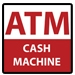 4x4 ATM Cash Machine Red and White Decal